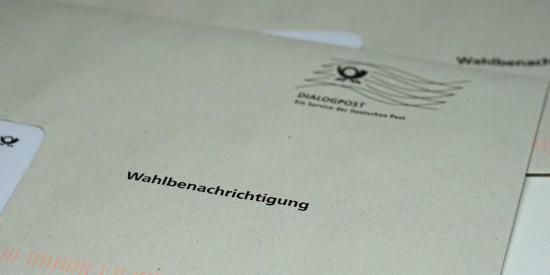 Wahlunterlagen - postalische Wahlbenachrichtigung